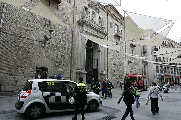 La iglesia del Carmen, acordonada