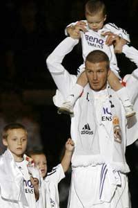 Beckham con sus hijos