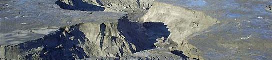 El lago que ha desaparecido misteriosamente en Chile. (REUTERS).