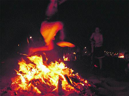 Moragas, fuego y ritmo en san juan