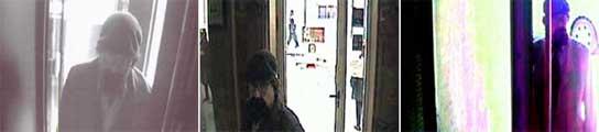 El 'Solitario', en imágenes captadas por cámaras de seguridad.