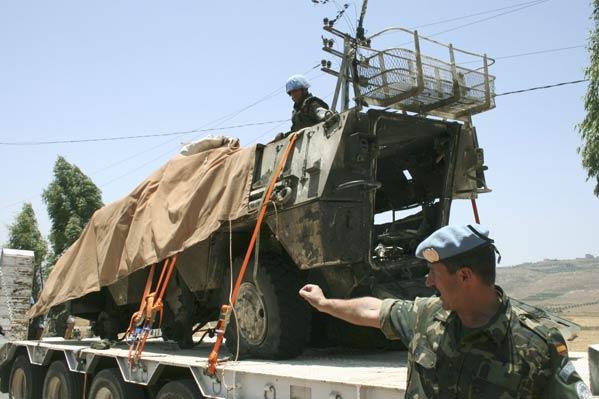 BMR español atacado en el Líbano
