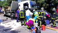 Un herido grave en San Lorenzo