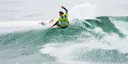Andy Irons domina las olas en Chile