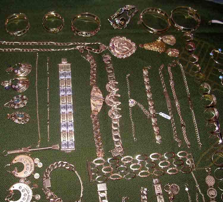 Exposición de joyas incautadas