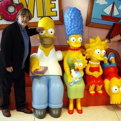 Matt Groening con Los Simpson