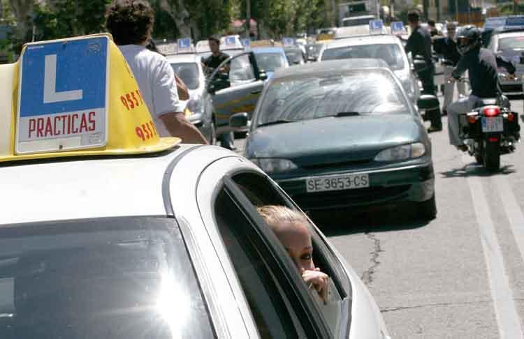 Protesta autoescuelas