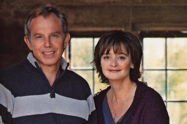 Tony y Cherie Blair