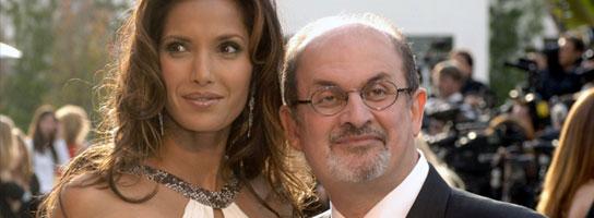 Salman Rushdie y su mujer, Padma Lakshmi.
