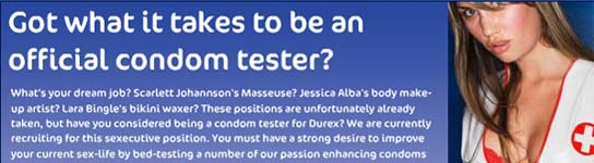 Oferta de empleo: se buscan 200 probadores de preservativos