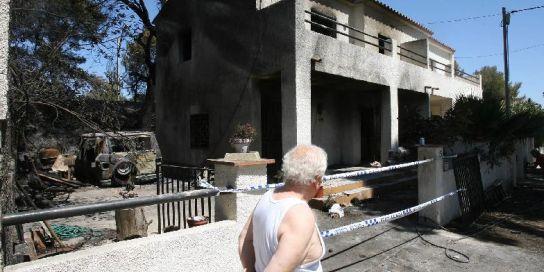Casa afectada incendio Mont-roig