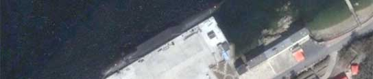 El submarino nuclear Type 094, en Google Earth.