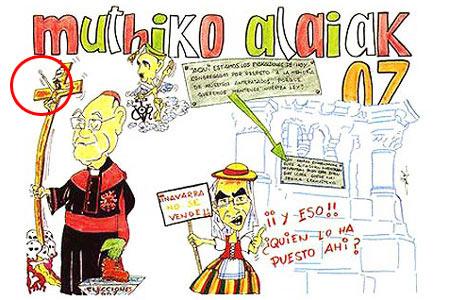 Pancarta polémica Sanfermines 2007