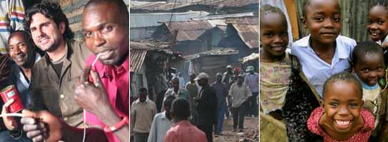 Hernán en Kibera