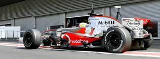 El McLaren en Spa