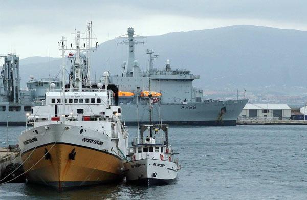 Buques de Odyssey en Gibraltar