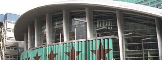 Exterior del Palacio de los Deportes de Madrid.