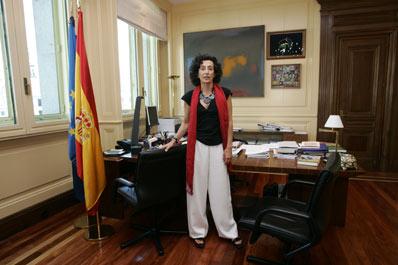 La ministra de Educación, en su despacho