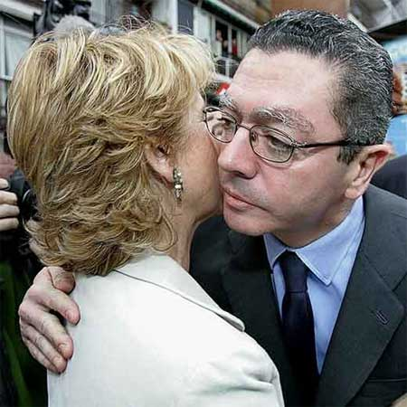 Ruiz-Gallardón y Esperanza Aguirre