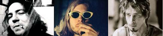 Eddie Vedder, Kurt Cobain y Chris Cornell