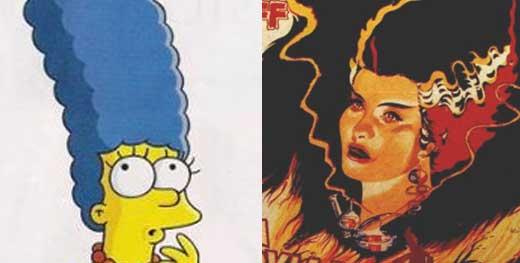 Marge Simpson y la novia de Frankestein