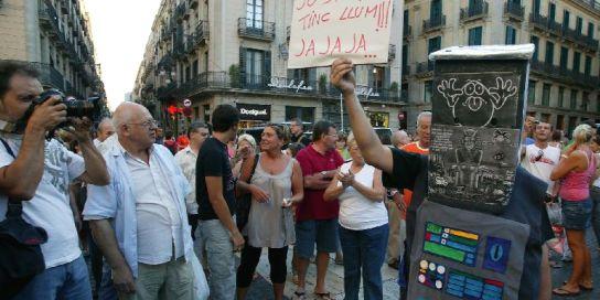 Protesta apagón vecinos