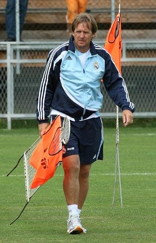 Schuster en un entrenamiento