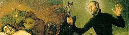 Pintura de Francisco de Goya en la que San Francisco de Borja efectúa un exorcismo. (WIKIPEDIA)