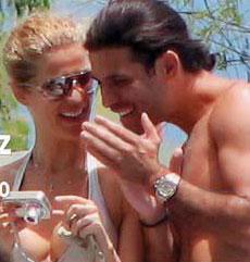 Jaydy Mitchel y Rafa Marquez