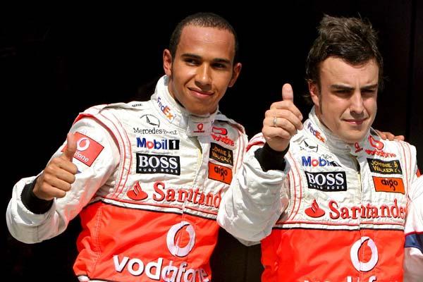 Hamil y Alonso