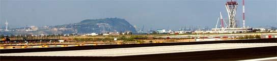 Vista de el aeropuerto de El Prat