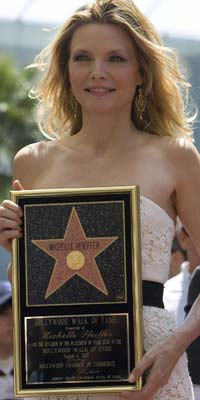 Michelle Pfeiffer, con su estrella