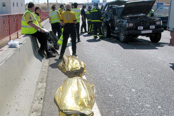 Accidente en Madrid