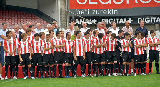 Plantilla del Athletic Club 2007-08.