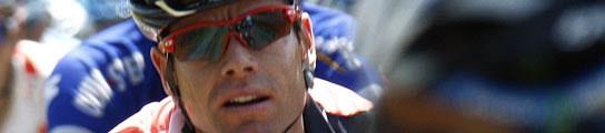 Cadel Evans, durante el Tour 2007.