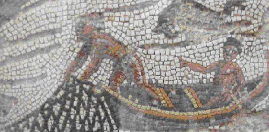 Antigua embarcación de pesca romana.