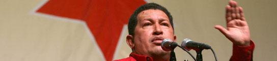 Chávez en un mitin