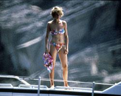 Diana de Gales en Mallorca.