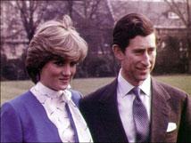 Los príncipes Carlos y Diana.