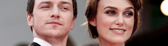 Keira Knightley y James McAvoy