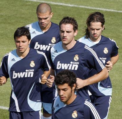 Pepe en el entrenamiento