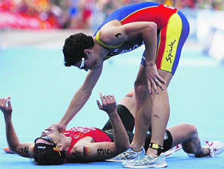El triatleta Gómez Noya, subcampeón mundial a dos segundos del ganador