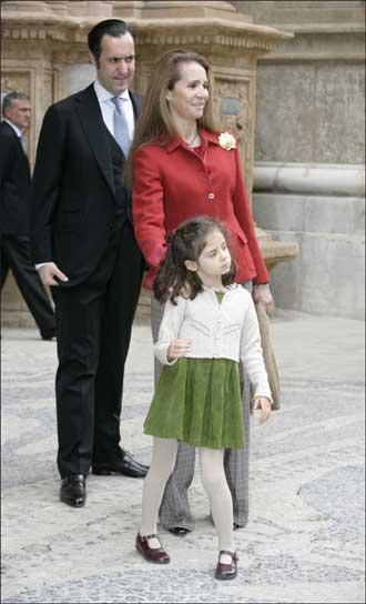 Los Duques de Lugo y su hija