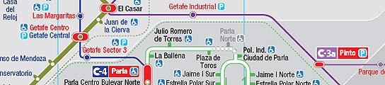 Nuevo mapa del transporte madrile�o.