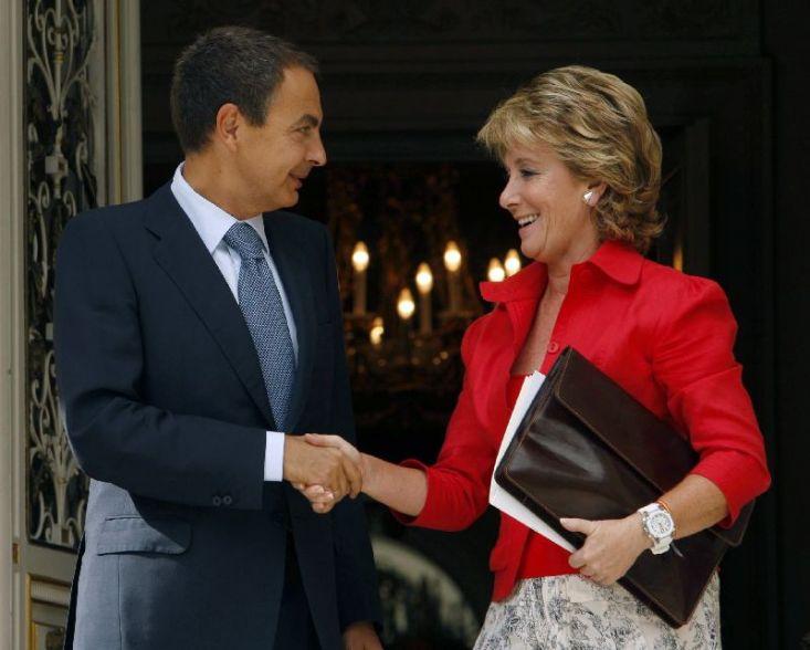 Zapatero y Aguirre, juntos y en sintonía