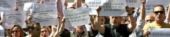 Protesta de afectados de Afinsa y Fórum (EFE)