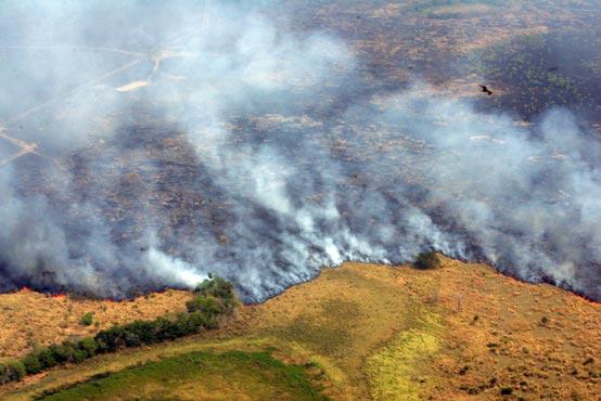 Incendios en Paraguay