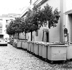 La calle de los cubos de basura