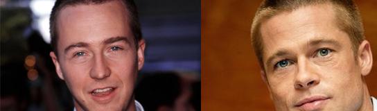 Edward Norton y Brad Pitt