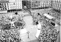 Fiestas de antaño en blanco y negro
